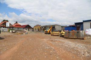postęp prac przy rewitalizacji rynku w Zakliczynie