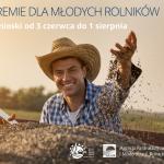 grafika z napisem: premia dla młodych rolników