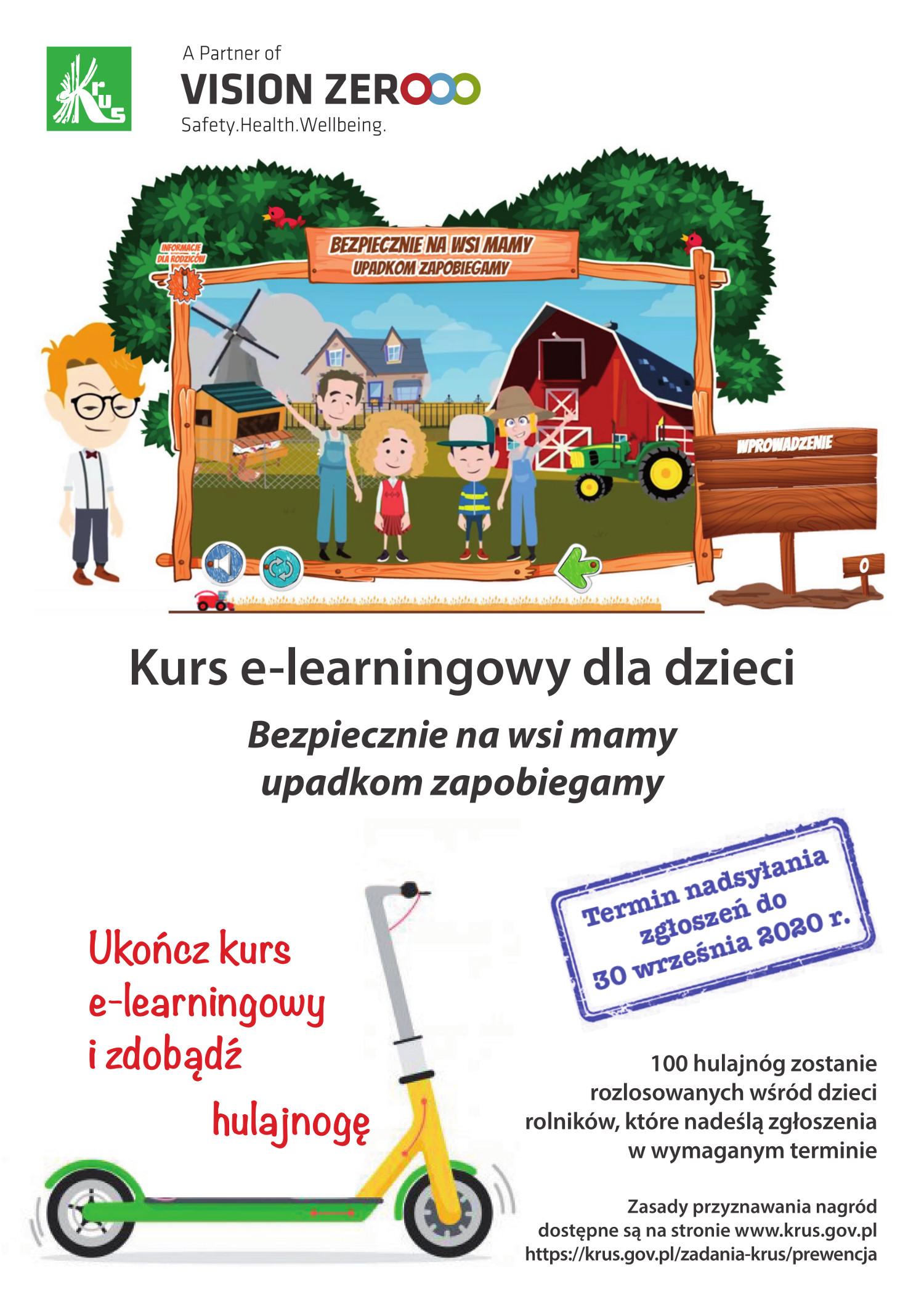 plakat Kurs e-learningowy dla dzieci