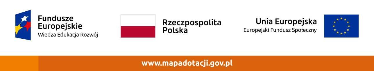pas logotypów: Fundusze Europejskie, Rzeczpospolita Polska, Unia Europejska