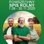 baner z napisem Powszechny Spis Rolny